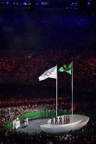 31st Rio 2016 Olympics / Opening Ceremony Illustration / Olympic flag / Brazilian flag / Olympic / Maracana stadium / Summer Olympic Games / Tim De...
