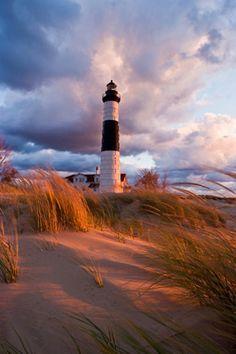 Luddington #Lighthouse - Luddington, #Michigan. On Lake Michigan.    http://dennisharper.lnf.com/
