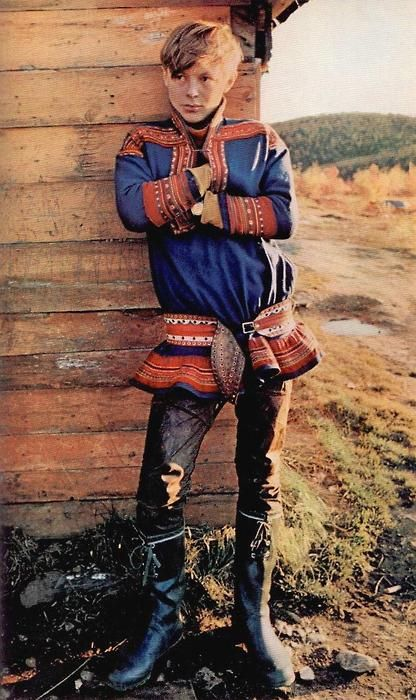 Nils Johan Mienna, photographed by Eric Borg for a 1977 National Geographic article about the Saami reindeer herders of arctic Europe.