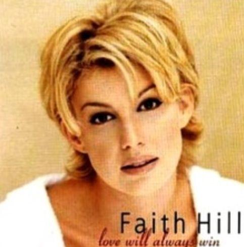 faith hills new hair style