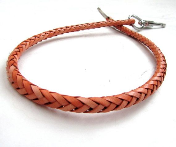 Honey Leather Hand Braided Wallet Chain by SanFilippoLeather, $36.00 men's fashion