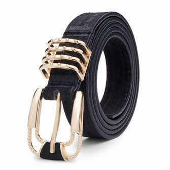 102CM Womens Belt Pigskin Frosted Cowhide Pin Buckle Strip at Banggood