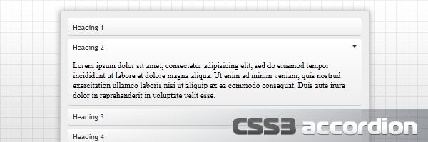 """Un """"Pure CSS3 accordion"""" Buenisimo"""
