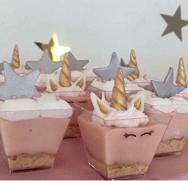 Unicorns shots cakes