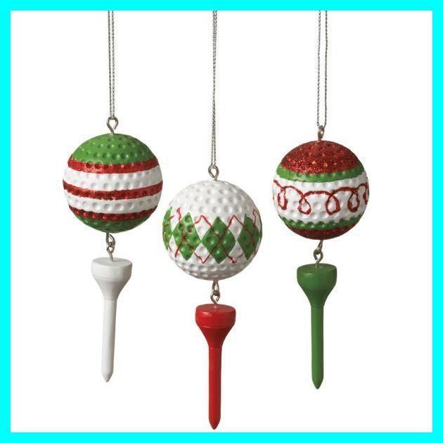 Personalized Golf Balls Perfect Golf Tournament Gifts For Promotion And Marketing Golf Decor Christmas Golf Christmas Ornament Sets