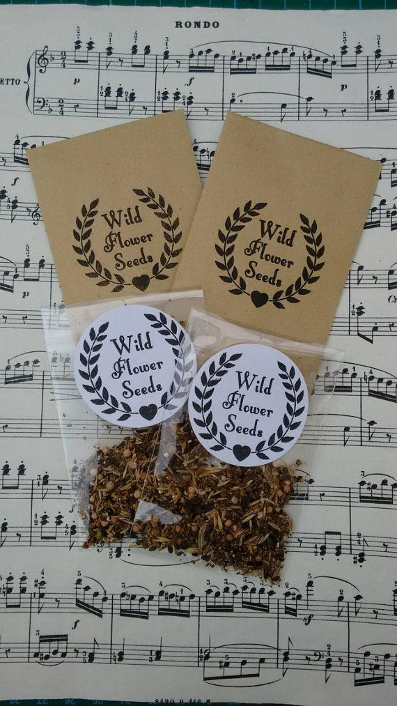 Non personalised wild flower packets but cute manilla packets! 50 for less than £20   Hey, I found this really awesome Etsy listing at https://www.etsy.com/uk/listing/176113732/10-packets-of-british-wild-flower-meadow