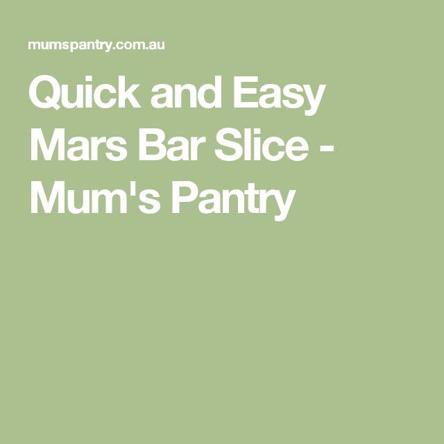 Quick and Easy Mars Bar Slice - Mum's Pantry
