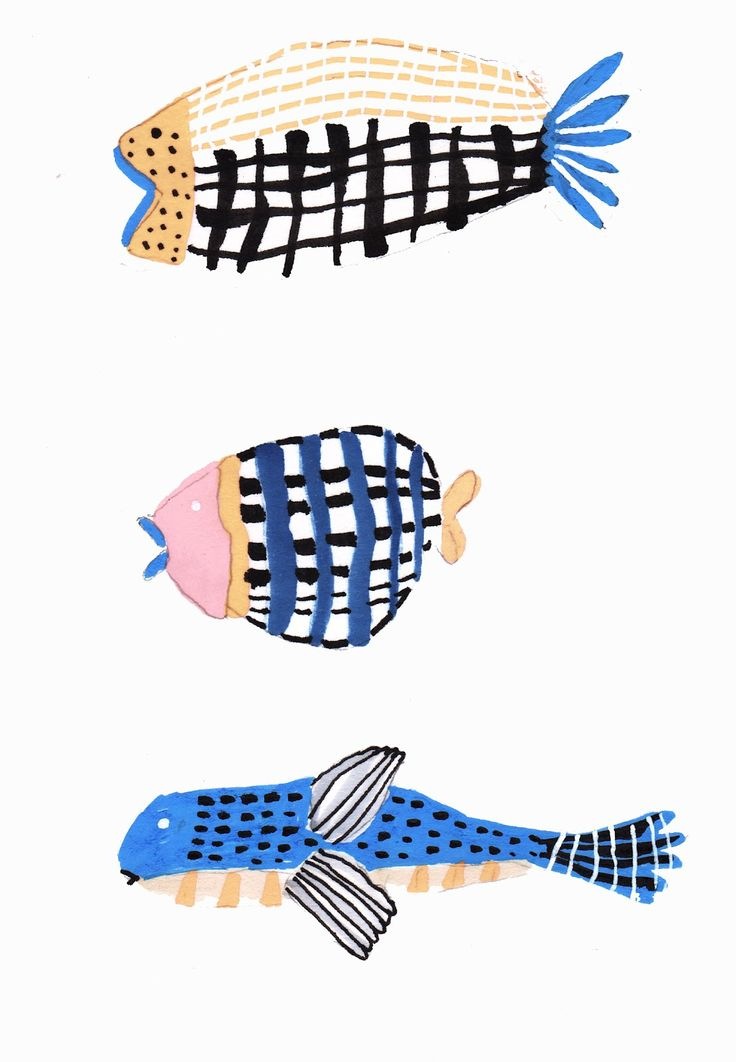 Whimsical fish by grace lee #fish #whimsical #illustration