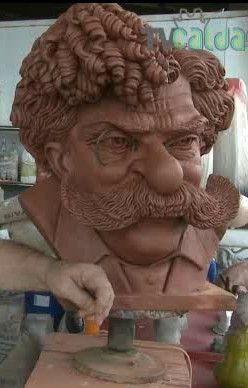 MODELING OF RAFAEL BORDALO PINHEIRO      by   CONSTANTINOS  CC  red clay http://constantinos.com.sapo.pt/