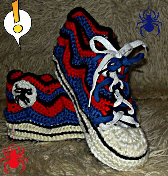 Picture of Converse-like slippers - The Spiderman edition!