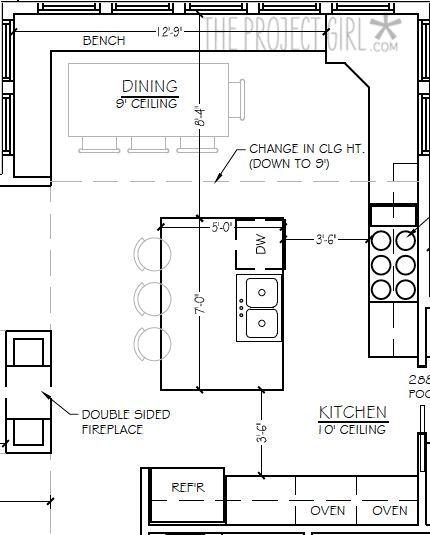 Modern Kitchen Floor Plan 92 best ˈki-chən design images on pinterest | kitchen