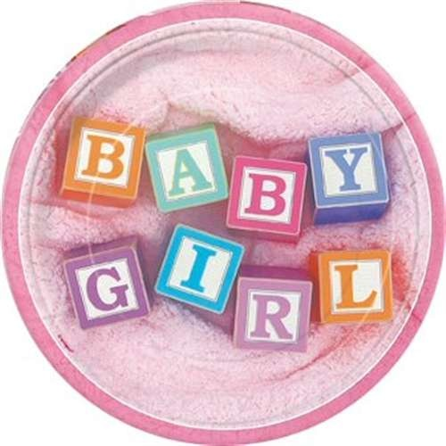 Baby girl blocks shower decoration ideas baby shower for Baby name decoration ideas