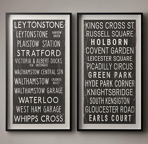 54 best art images on pinterest boy nurseries restoration vintage bus stop scroll leytonstone kings cross solutioingenieria Image collections