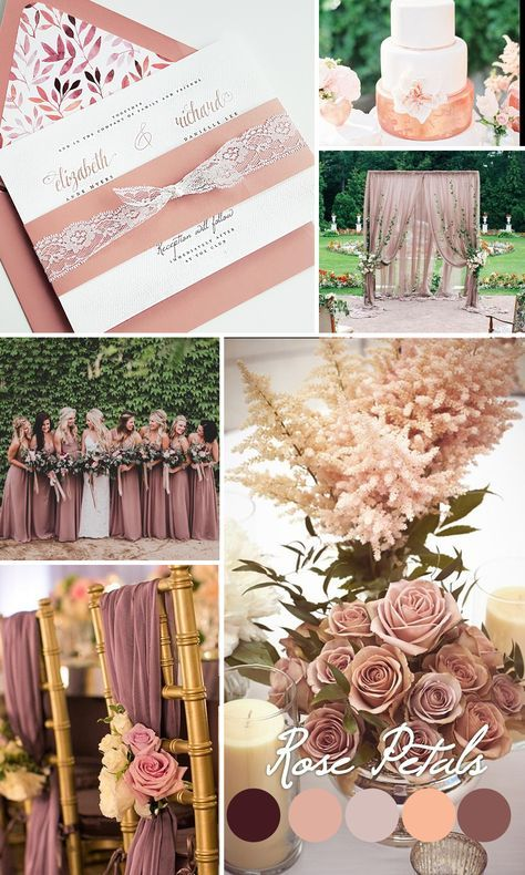 Dusty rose wedding inspiration, Mauve wedding color trends 2016 - Dusty Rose wedding invitation, lace wedding invite, Mauve invitation {Camellia design - Sku: CamPin01}