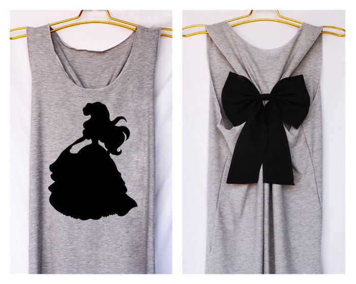 Ariel littel mermaid Disney Princess Tank Premium with Bow : Workout Shirt - Keep Calm Shirt - Tank Top - Razor Back Tank - Disney shirt by DollysBow on Etsy https://www.etsy.com/listing/215164457/ariel-littel-mermaid-disney-princess