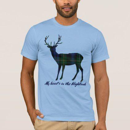 Robert Burns Quote Campbell Tartan Stag T-Shirt - quote pun meme quotes diy custom