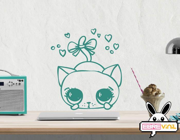 Vinilo decorativo gatos Gatito mimosiín