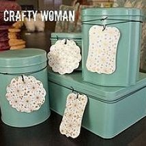 Repurposing old tins! Spray paint and add decorative tags