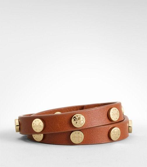 .: Wraps Bracelets, Skinny Cuffs, Logos Studs, Tory Burch, Cute Bracelets, Burch Bracelets, Gold Watches, Toryburch, Leather Cuffs Bracelets