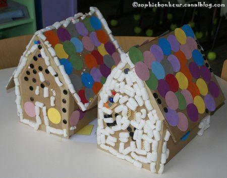 Hansel et Gretel maisons de carton