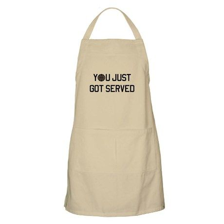 You got served vollyball Apron on CafePress.com