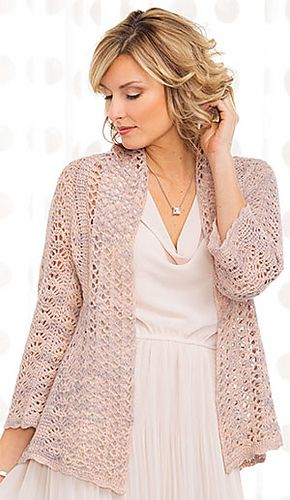 online shopping jewelry Remarkable Tunisian lace design  Miyabita Cardi crochet pattern by Juliette