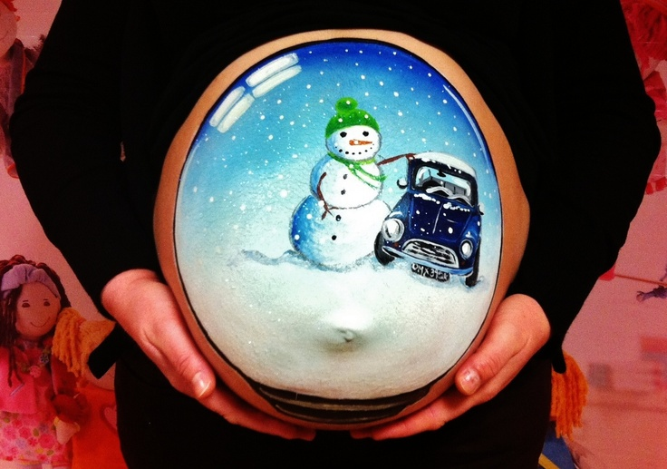 Snow Globe with a cheeky mini for daddy x    https://www.facebook.com/My.Little.Sweetpea.Murals