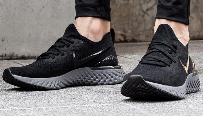 "Nike Epic React Flyknit 2 "" Black Grey"