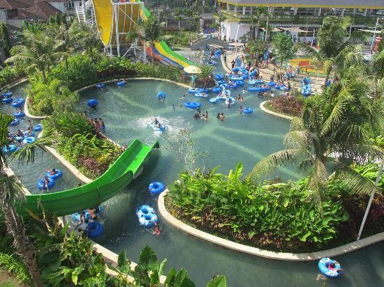 Green Main Pool of Circus Waterpark Bali