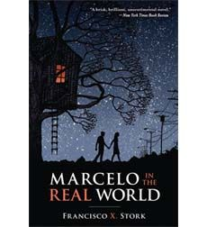 """Marcelo Sandoval hears music that nobody else can hear - part of an autism-like condition that no doctor has been able to identify. But his father has never fully believed in the music or Marcelo's differences, and he challenges Marcelo to work in the mailroom of his law firm for the summer . . . to join """"the real world."""" https://ashs.mykoha.co.nz/cgi-bin/koha/opac-detail.pl?biblionumber=6911"""