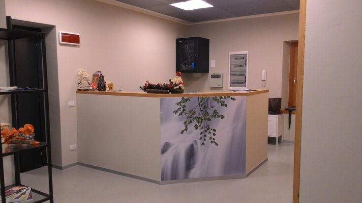 Bancone della reception dell'Albergo Diffuso Dolomiti
