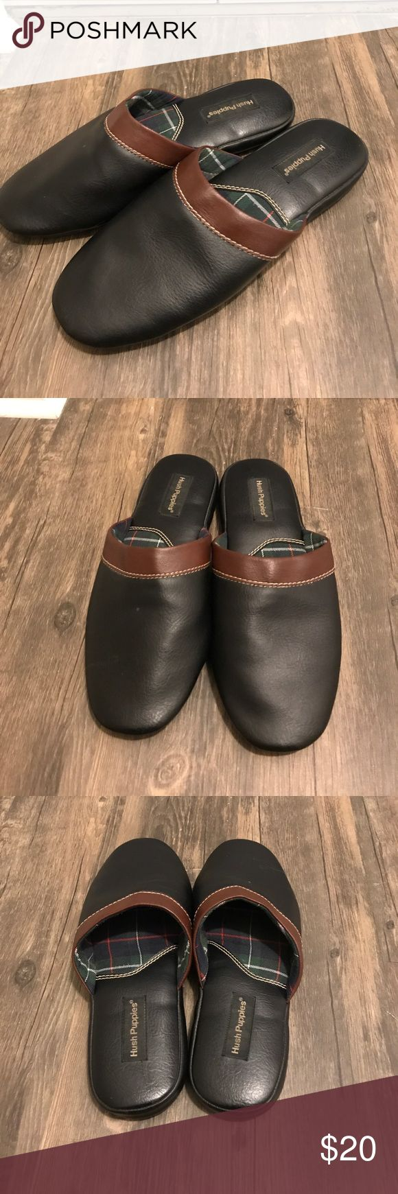 Hush puppies leather slippers size 11 Leather slippers in good condition size 11. Black and brown leather Hush Puppies Shoes Sandals & Flip-Flops