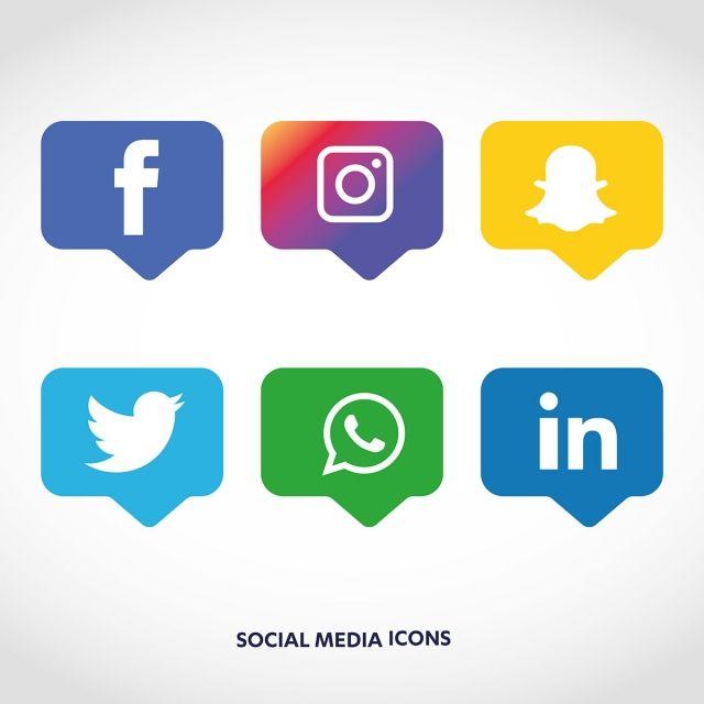 Social Media Icons Set Logo Vector Illustrator Social Media Icon Png And Vector With Transparent Background For Free Download Social Media Icons Logo Design Free Templates Icon Set Design