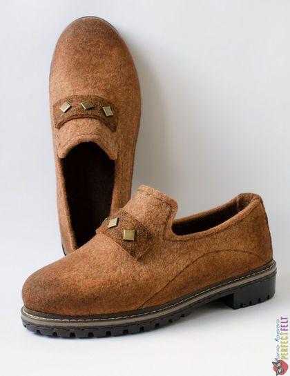 Туфли  из войлока` Terracotta`