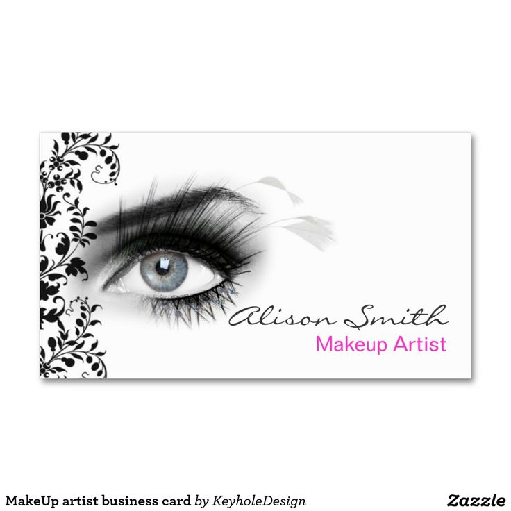 MakeUp artist business card                                                                                                                                                                                 Más