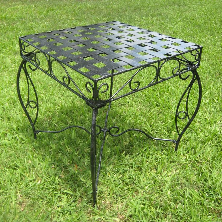 Have To Have It. International Caravan Mandalay 20 In. Wrought Iron Patio  Side Table