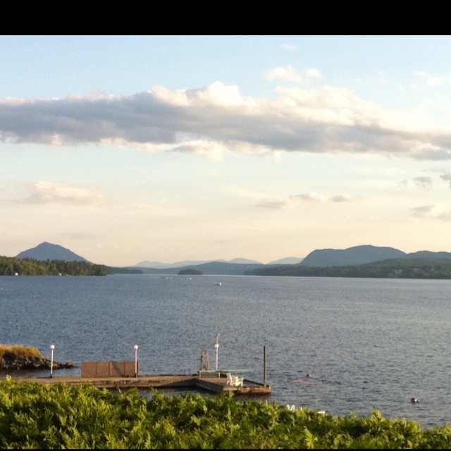 My summers...View from the porch at Magog.