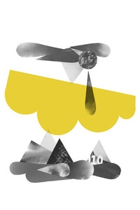 Via Weekday Carnival (Big Cartel) | Geometric 'Yellow Cloud' Print