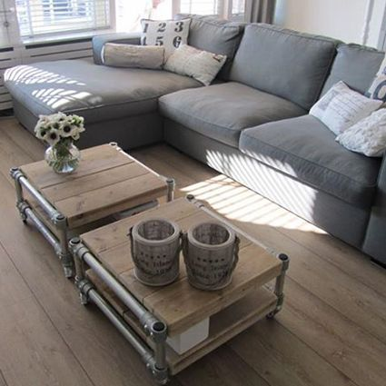 Salontafel van steigerhout - Coffee table made from recycled wood by Jorg Steigerhout #duurzaam