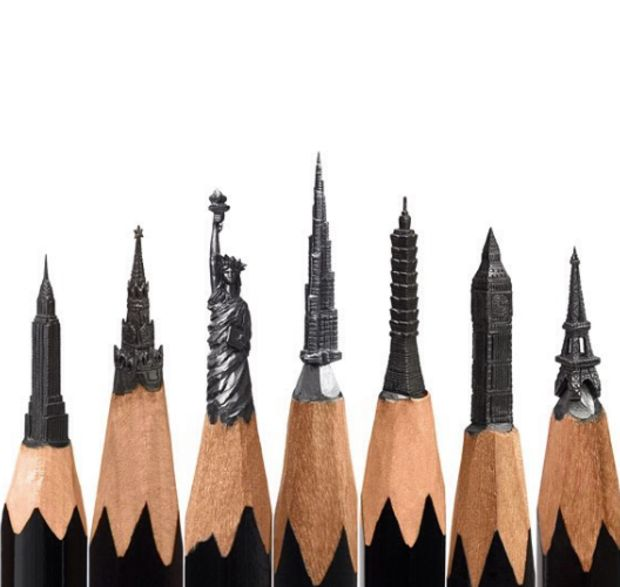 Artist Creates The Most Amazing, Intricate Sculptures From Pencils