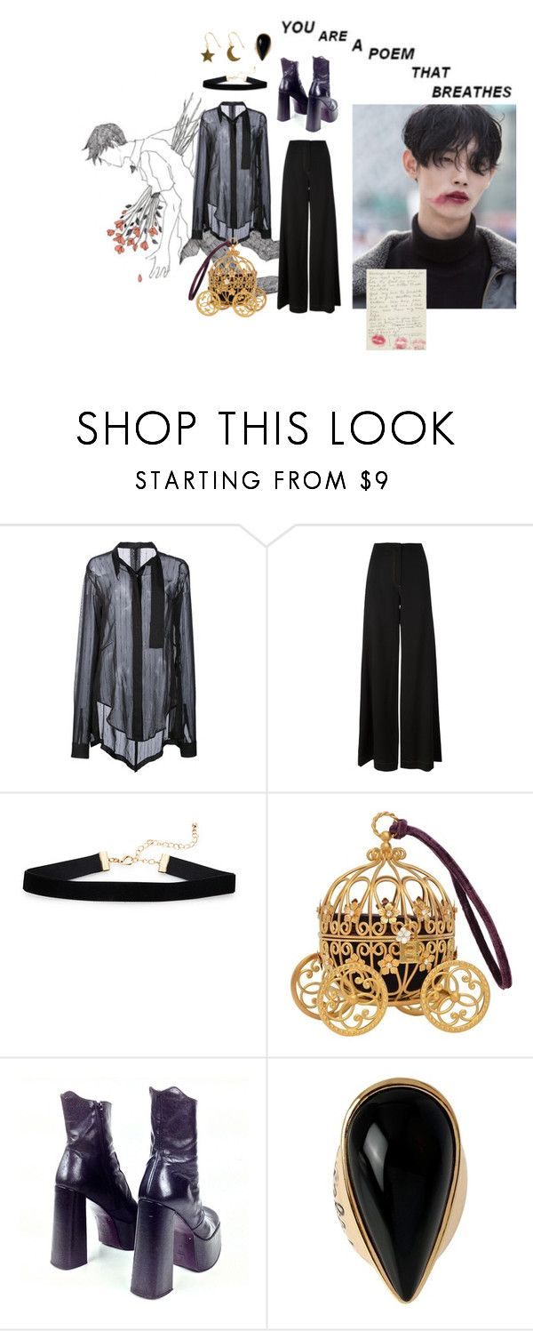 """Love me do"" by lhv085 ❤ liked on Polyvore featuring Unravel, McQ by Alexander McQueen, Dolce&Gabbana, Luichiny, Diane Von Furstenberg and SOPHIE by SOPHIE"