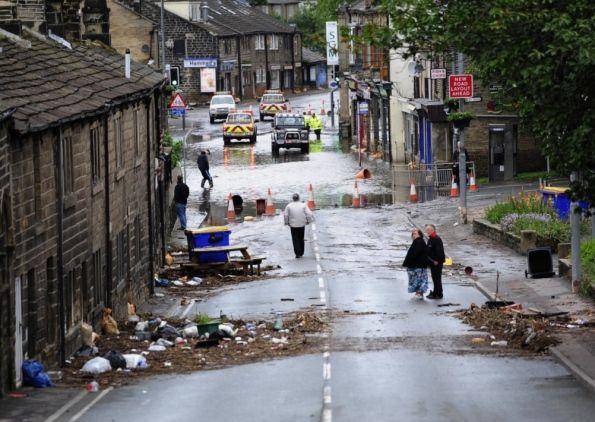 #floods in Hebden Bridge, UK
