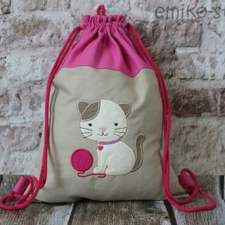 Personalized Draw String Back Pack - CAT
