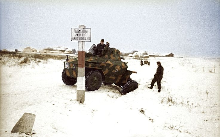 Csaba M39 in snow.