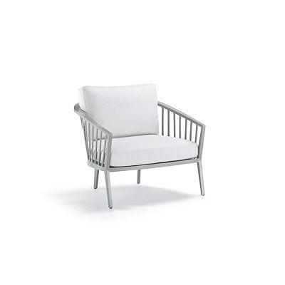 Altair Lounge Chair Cushions - Sailcloth Seagull Rain, Custom Sunbrella Rain - Frontgate