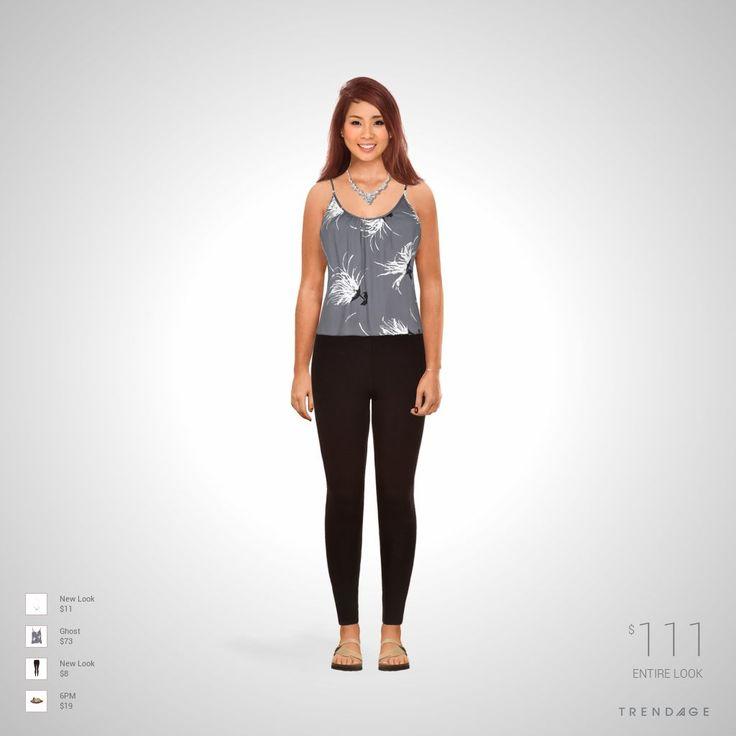 Tenue créée par Laure en utilisant les vêtements de New Look, Ghost, 6PM. Look fait sur Trendage.