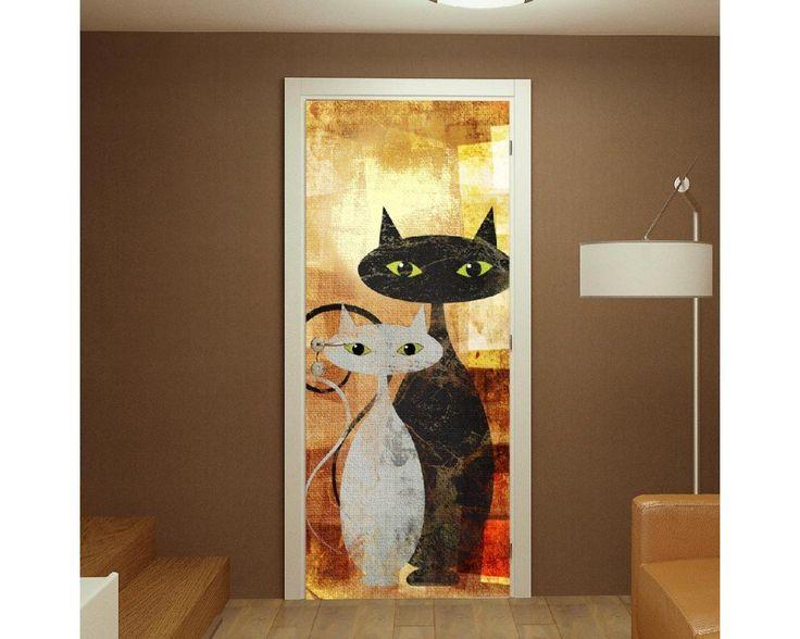 The cats, αυτοκόλλητο πόρτας , δείτε το!
