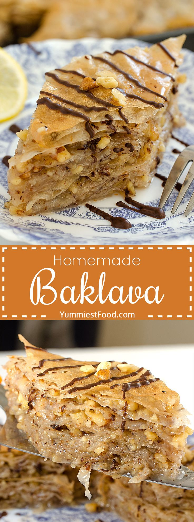 This Baklava is perfectly moist, sweet, crispy and very delicious. So quick and easy to make with only few ingredients! This Baklava is perfect for every occasion!