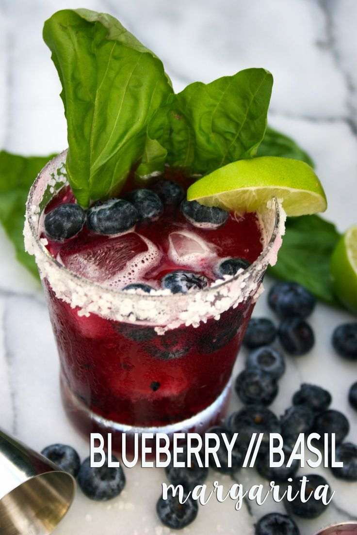 blueberry basil margaritas with lime - there really is nothing better!!!