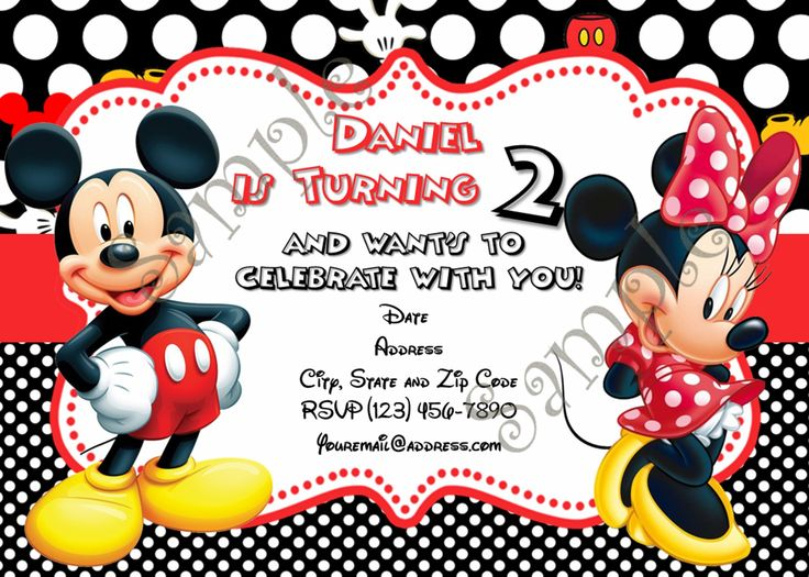 32 best Mickey Mouse Birthday Party images on Pinterest Mickey - mickey mouse invitation template